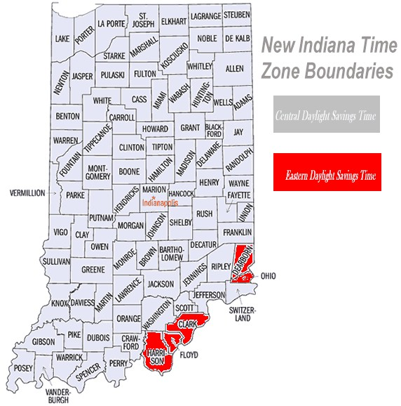 Central Time For Indiana Select Testimonials Rec Pg - Indiana is in what time zone